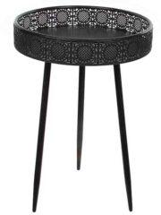 Zwarte Mica Decorations ronde tafel zwart maat in cm: 58 x 40