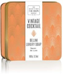 Scottish Fine Soaps Soap In A Tin Vintage Cocktail Bellini Zeep 100gr
