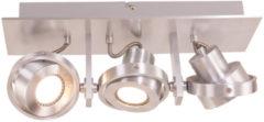 Zilveren Home24 LED-plafondlamp Quatro I, Steinhauer