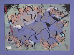 Paarse Lian Ong - Horizon - Zeefdruk Dromen