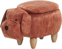 Beliani Doggy Hocker Fluweel 36 X 62 Cm