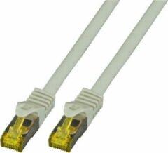 EFB Elektronik RJ45 MK7001.2G Netwerkkabel, patchkabel CAT 6a (losse kabel CAT 7) S/FTP 2.00 m Grijs Vlambestendig, Halogeenvrij, Snagless, Vergulde