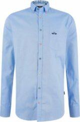 HV Society Heren Lange Mouw Overhemd - 0404103107-Fender LS Blauw (Maat: XXL)