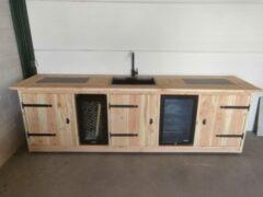 Buitenkeukendeal Buitenkeuken - Sydney - Koelkast 68 liter - Wijnkoeling 50 liter - Douglas hout