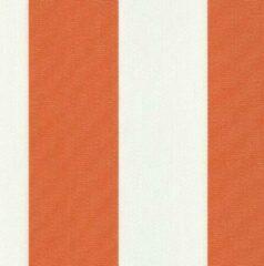 Acrisol Creta Naranja oranje wit gestreept 1152 stof per meter buitenstoffen, tuinkussens, palletkussens