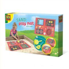 SES Creative zand-speelmat keuken junior kunststof textiel 4-delig