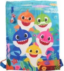 Pink Fong Pinkfong Gymtas Baby Shark Junior 30 X 40 Cm Lichtblauw