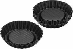 Zenker Taartvormen - Bakvorm - 10 CM - Set van 4 - Zwart