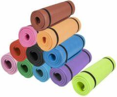 Fuchsia Gorilla Sports Yogamat Deluxe (190 x 60 x 1,5 cm) - Yoga Mat - robijn