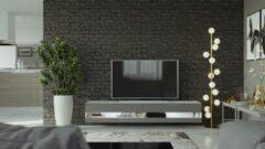 Maxima House VIGO III Zwevend TV Meubel - TV Meubel Hoogglans Grijs / Wit - TV Kast Meubel - Modern Design - 30x180x40 cm - Inclusief LED - Modern Design