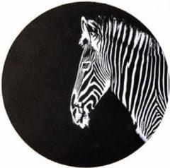 Witte Moodadventures | Muismatten | Muismat Rond Zebrakop | Rubber | 20x20cm.