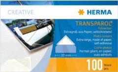 Transparante Herma Transparol fotohoeken XXL 100 st. dubbele strips 1302