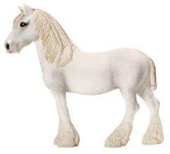 Witte Schleich Shire merrie 13735 - Paard Speelfiguur - Farm World - 13,5 x 4 x 12,5 cm