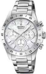 Festina F20397/1 Boyfriend Collection Chronograaf - Polshorloge - Staal - Zilverkleurig - Ø 38,5mm