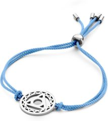 CO88 Collection Chakra 8CB 90210 Armband met Stalen Element - Throath Chakra Ø 20 mm - One-size - Blauw