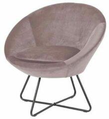 Lisomme Merel ronde fauteuil - Velvet - Roze