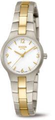 Boccia Titanium 3312.02 horloge Titanium Zilver en goudkleur Dames