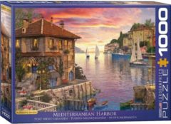 Eurographics Puzzel Mediterranean Harbor/Haven - Dominic Davison 1000 stukjes