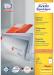 Avery witte etiketten QuickPeel Ft 210 x 148 mm (b x h), 200 stuks, 2 per blad, doos van 100 blad