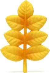 Lanco Toys Lanco Rubberen bijtspeeltje - Gouden Blad geel