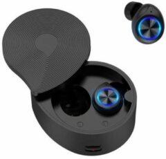 Gymston Volledig Draadloze Oordopjes Met Oplaadcase - Zwart PXII - Draadloze oordopjes - Bluetooth oortjes - Geschikt voor alle bluetooth smartphones - draadloos opladen - Apple iPhone en Android