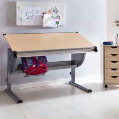 Wohnling Design Kinderschreibtisch MAXI Holz 120 x 60 cm Buche Mädchen Schülerschreibtisch neigungs-verstellbar Schreibtisch Kinder höhenverstellbar