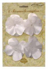 Fun & Feest Party Gadgets Tafelkleed klemmen witte bloemen 4 stuks