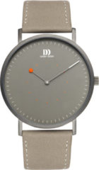 Grijze Danish Design watches edelstalen herenhorloge On The Dot II All Grey IQ16Q1274