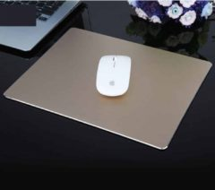 Merkloos / Sans marque Extended Large Slim Anti-Slip Aluminium Game en Office Keyboard Muismat Mat, Afmeting: 180 x 160 x 1 mm (goud)
