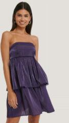 NA-KD Party Off-Shoulder Mini-Jurk - Purple
