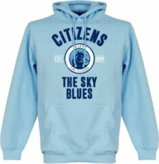 Lichtblauwe Merkloos / Sans marque Manchester City Established Hooded Sweater - Wit - S