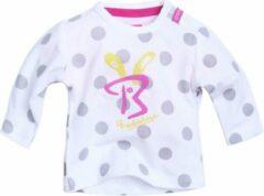 Beebielove Babykleding Meisjes Gestipte Tshirt (Wit) - 50