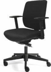 OVVIS Logan Comfort - Ergonomische bureaustoel - Zwart Stof en Nylon