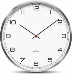 Witte Huygens klokken Huygens - One Arabic 25cm - RVS - Wandklok - Stil - Quartz uurwerk
