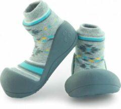 Attipas Nordic grijs babyschoenen, ergonomische Baby slippers, slofjes maat 19 , 3-6 maanden