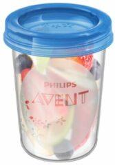 Witte Philips Avent bewaarbeker voor babyvoeding SCF639/05, 5x 240 ml-beker inclusief deksel