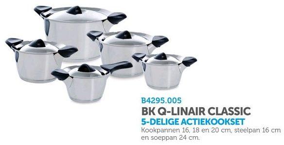 Afbeelding van Roestvrijstalen BK Q-linair Classic Pannenset - 5 delig - RVS