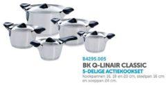 Roestvrijstalen BK Q-linair Classic Pannenset - 5 delig - RVS