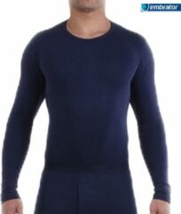 Embrator mannen Longsleeve Thermo donkerblauw maat L