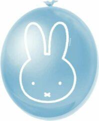 Partywinkel Nijntje Ballonnen Lichtblauw 30cm 6 stuks