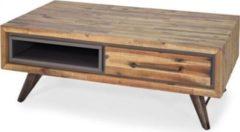 Möbel Ideal Couchtisch Tati 120cm Akazie Massiv Braun Vintage