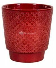 NDT International Pot Odense Star Bordeaux M 15x15 cm rode ronde bloempot voor binnen