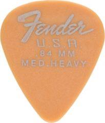 Fender 351 Dura-Tone picks, set van 12, 0,84 mm, Butterscotch blonde