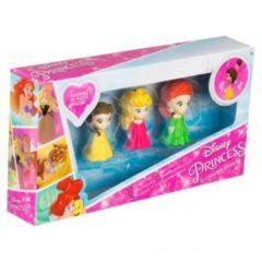 Disney Princess 4-delige 3D Gummen Set voor Meisjes - 5x2x2cm - 4 Stuks