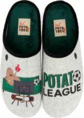 Hot Potatoes Sloffen - Maat 44 - Mannen - grijs/groen
