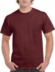 Bordeauxrode Gildan Bordeaux rood katoenen shirt voor volwassenen XL (42/54)