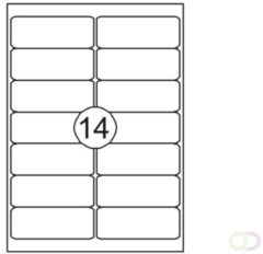 Witte QUANTORE Printeretiketten 99,1mmx38,1mm