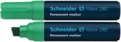 Marker Schneider Maxx 280 permanent beitelpunt groen