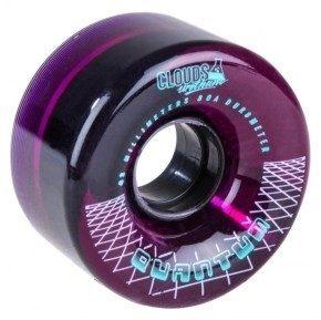 Afbeelding van CLOUDS Quantum 62mm/80A Clear Purple (4-pack) Wheels - Rollerskate Wielen