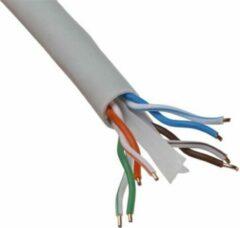BES LED Netwerkkabel - Priso Cata - Cat6 UTP Box - 100 Meter - Stugge Kern - Koper - Grijs